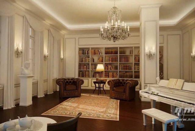 Elegante composizione di cornici in poliuretano, rosoni classici in poliuretano in abbinamento con bouserie Aldo Verdi
