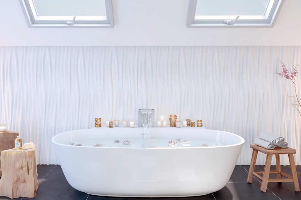 pannelli 3d poliuretano rivestimento pareti per bagno