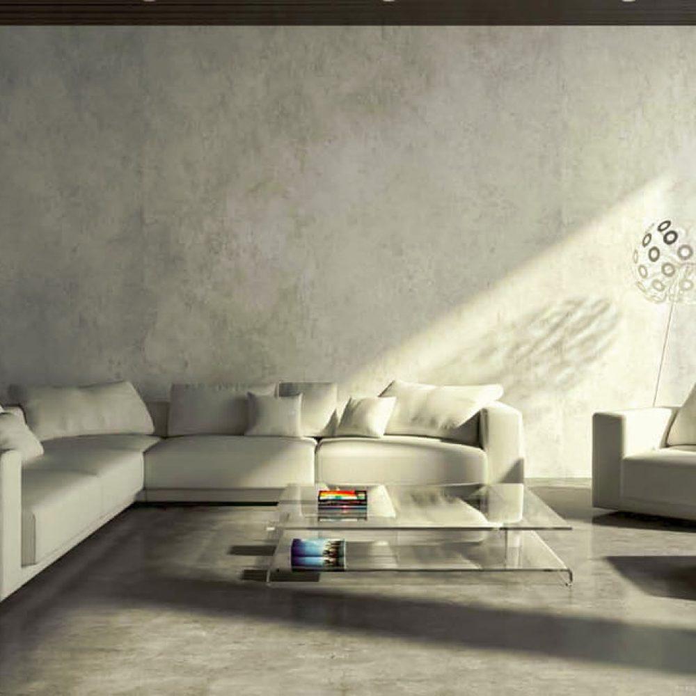 pavimenti resina soggiorno