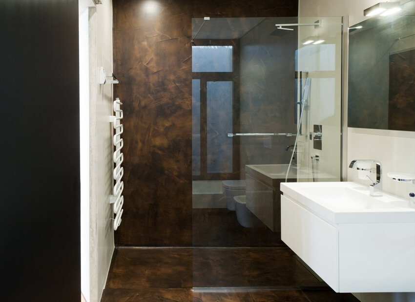 Resine per pavimenti e pareti per pareti aldo verdi with - Pavimenti bagno in resina ...