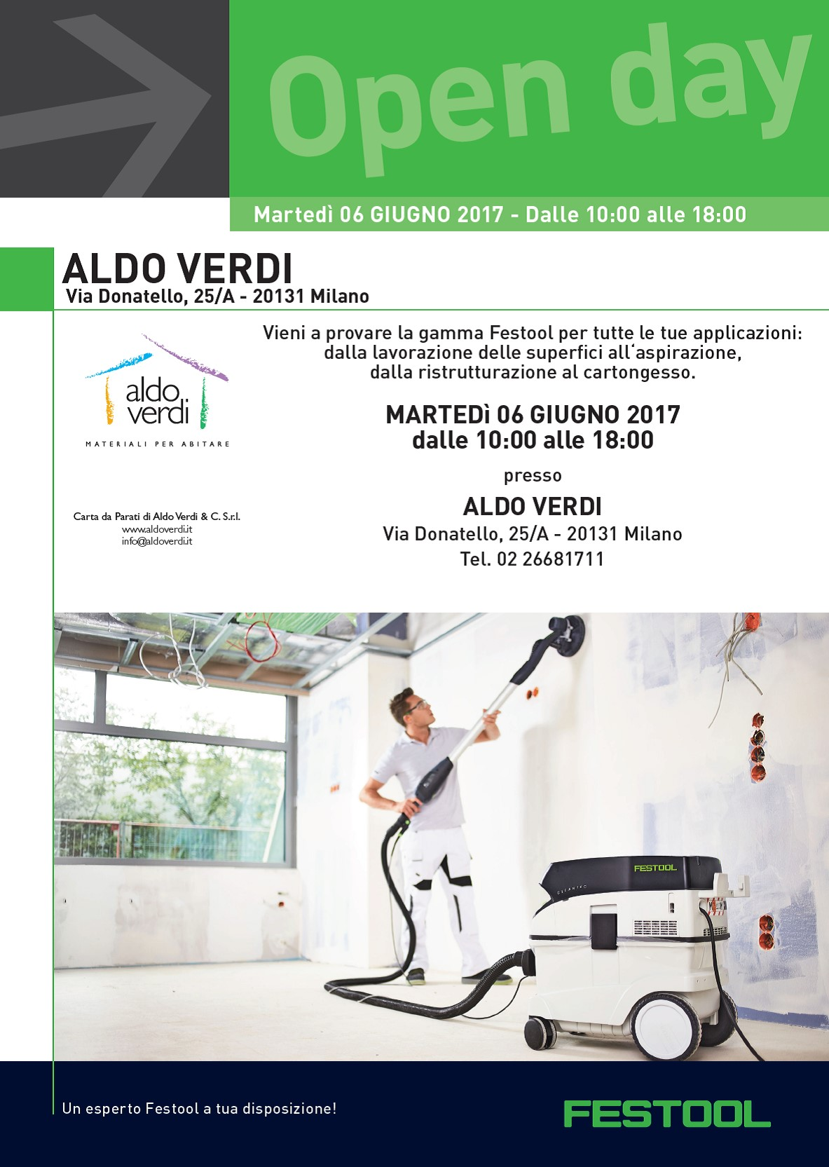 Open day Festool da Aldoverdi