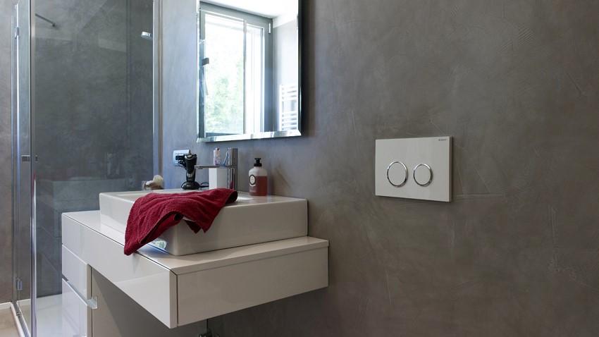 Resine per superfici commerciali e residenziali aldoverdi - Pavimenti bagno in resina ...